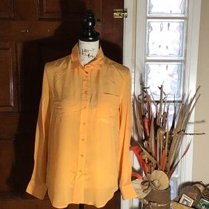 NWT. Silk Front Pocket Shirt
